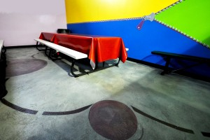 partyroom1 300x200 Care for an Interior Overlay floor